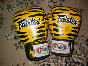 FAIRTEX 16 oz BOXING GLOVES GYM MUAY THAI KICK BOXING SPARRING UFC MMA TRAINING