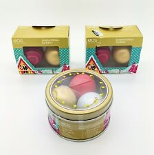 Lot of 7 EOS Lip Balms Limited Holiday Chai Cranberry Snow Raspberry