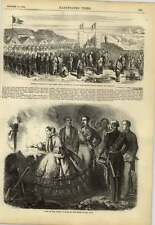1858 Reina España visitas minas San Juan francés funeral Peiho fortalezas batalla