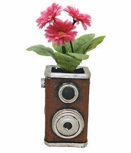 Retro Resin Speaker Shaped Flower Plant Gardening Pot