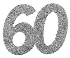 60. Geburtstag Konfetti Confetti Streudekoration Tisch DEKO