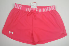 NWT UNDER ARMOUR WOMEN HOT PINK PLAY UP WAISTBAND GYM YOGA  SHORTS SZ MD MEDIUM