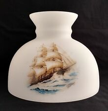 ALADDIN LAMP BRAND STUDENT SHADE M543 SAILING CLIPPER SHIP SCENE - NEW.