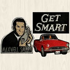 Get Smart Patches Set Maxwell Shoe Phone Agent 86 Sunbeam Tiger Car Embroidered