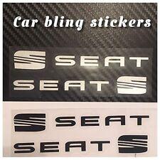 Seat Leon Ibiza  Door Handle Stickers.Decal Bumper Windows. Black Silver Caliper