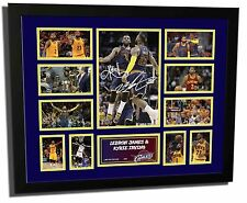 LEBRON JAMES & KYRIE IRVING CAVALIERS SIGNED LIMITED EDITION FRAMED MEMORABILIA