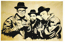 MR BRAINWASH RUN DMC Promo Postcard Pop Art Print banksy shepard fairey Mint New