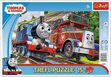 Trefl 15 Piece Baby Kids Boys Infant Thomas The Tank Frame Floor Jigsaw Puzzle