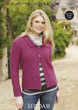 Sirdar Womens Knitting Pattern - Cardigan - 9223 - Country Style DK