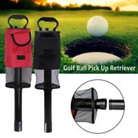 Detachable Golf Ball Shag Bag Pick Up Tube Retriever Tool Zip Collector L6D5