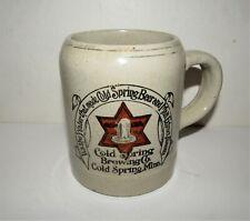 Cold Spring Brewery pre-pro stoneware mug Cold Spring, Minnesota