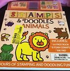 """""""STAMPS & DOODLES ANIMALS"""" 64 PAGE BOOK, 8 FOAM STAMPS, INK PAD"""