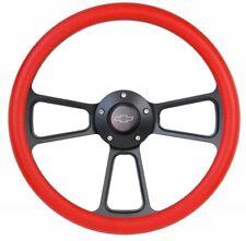 1964-1966 Chevrolet Chevy II and Nova Black & Red Steering Wheel Full Kit!