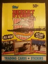 1991 Topps Desert Storm Victory Series 2 (36) Unopened Cards in Box - FREE SHIP