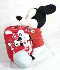 Disney Mickey Mouse Christmas Plush Pillow and Throw Blanket Collegiate Indiana