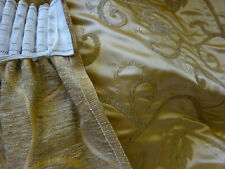 """Pair Thick Tape Top Gold Curtains 22"""" x 58"""""""