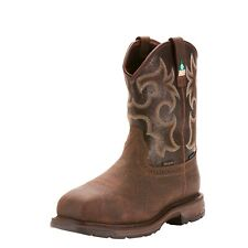 Ariat Workhog CSA H2O Work Boots Composite Toe Pull On Leather Men 10023280