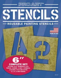 (15cm  Set) - PRO ART 3010-6 15cm Painting Stencil Set, Letters and Numbers