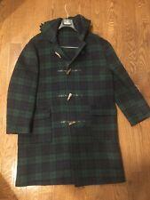 J CREW Tartan Wool Duffle Coat w/ Toggle Closure & Hood - Size: L