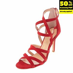 RRP €175 FEDERICA STELLA Leather Strappy Sandals EU 39 UK 6 US 9 Made in Italy