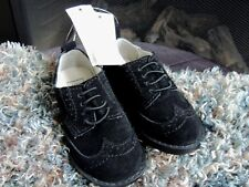 NWT Toddler Boys Shoe Size 8 * BABY GAP * Black Suede Wingtip Oxford Dress Shoes