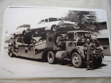 NEW 1958 PLYMOUTH  ON CAR CARRIER   11 X 17  PHOTO  PICTURE