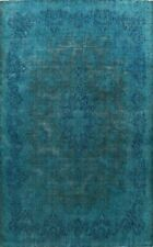 Antique Overdyed Traditional Area Rug Distressed Handmade Evenly Low Pile 10x13