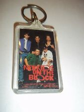 """THE NEW KIDS ON THE BLOCK 1990 KEY CHAINS ARE 1 3/8"""" X 2 1/2"""" ORIGINAL / VINTAGE"""