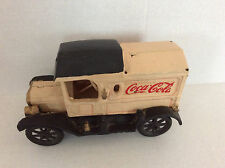 Cast Iron Vinatge Coca Cola Delivery Truck Toy with boxes and bottles