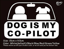 Dog Is My Co-pilot funny reflective car truck stickers Best gift-