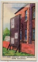 English Law Right To Have Sunlight In Your Building 1930s Ad Trade Card