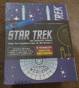 New StarTrek: Original Series Fine Art Coasters Series 1 Sealed
