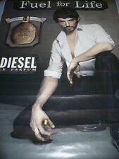 """AFFICHE POSTER GEANT   DIESEL """" FUEL FOR LIFE """" 2010     180x120  TBE  NON PLIEE"""