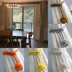 2Pcs curtain rope Ball Curtain Tie backs Holdbacks Curtains & Voiles UK