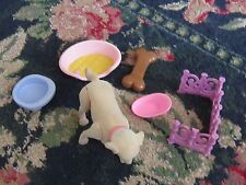 Mixed lot of childrens toys dog bed dish and bone dog preschool play toys