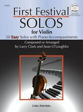 Clark & O'Loughlin First Festival Solos EASY Beginner VIOLIN Music Book & CD