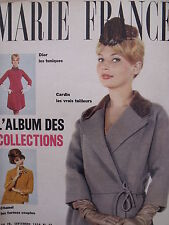 ▬► Marie France 43 de 1959 Haute Couture Chanel Dior Sacha Distel Anette Vadim