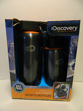 Discovery Expedition Stainless Steel ECo-Friendly Sports Bottle Set of 2   NEW