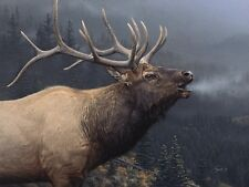ELK WILDLIFE ART PRINT - Call of Autumn by Daniel Smith Hunting Poster 32x42