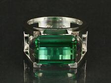 Designer Ring mit großem Turmalin Ringweite 67   750/- Weißgold