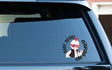 Baby on Board Decal/Sticker Baby Rebel On Board new family car people carrier