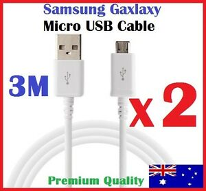 3M Long Micro USB Charging Data Cable for Samsung Galaxy S7 S6 S5 S4 Note HTC