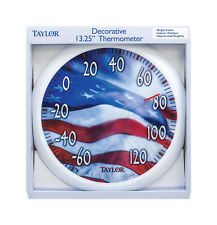 Taylor  Decorative  13-1/4 in. Indoor and Outdoor  Dial Thermometer, 6729