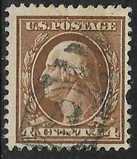 3v0452 US Stamp 1920's 4 cent Washington Used Number 3 Cancel