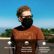 Face and Beard Mask Cover Protection for Bearded men Cotton 100% Made in Usa