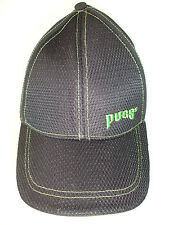 PUGS Black Baseball Cap Hat with Green Trim Adjustable Strap NEW without Tags