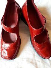 Clarks ACTIVE AIR Damas Rojo Patente Cuña Mary Jane Zapatos Talla 4.5! Excelente!