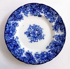 "Antique FLOW BLUE 9"" DINNER  PLATE ~ Ormonde Pattern ~ A. Meakin England"