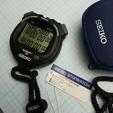 SEIKO StopWatch Timekeeper Sports Digital Watch S23601P MSRP 145$