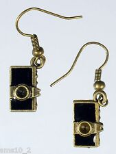 Camera Earrings Hce212 Hand Made Bronze Colour
